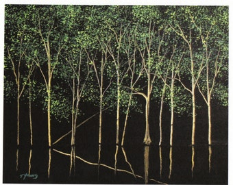 BAYOU WATERS Limited Edition 8x10 Art PRINT of Todd Young painting
