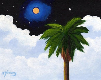 FLORIDA NIGHT limited edition PRINT of Todd Young painting