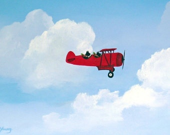 Flying Aces Scottish Terrier dog print by Todd Young