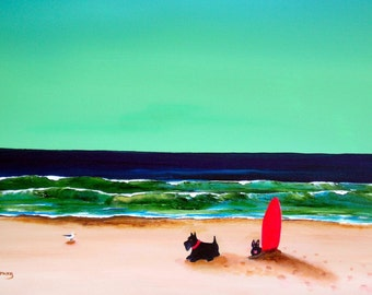 Surf's Up Scottish Terrier dog print by Todd Young