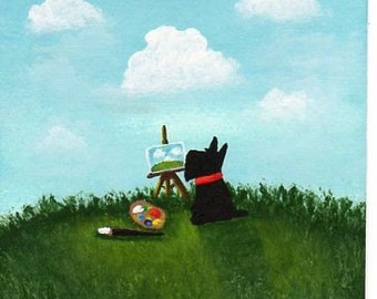 Scottie Dog THE ARTIST PRINT Todd Young painting