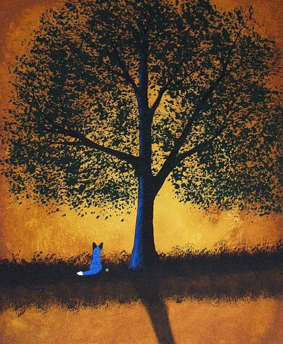 Australian Cattle Dog Art PRINT Todd Young painting GOLDEN MOMENTS