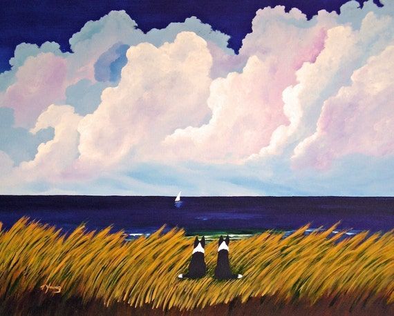 Summer Love Border Collie Dog Todd Young Art Print