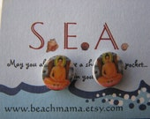 Zen Buddha - Mini Post Earrings