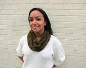 knit odetta cowl (brown/green)