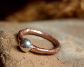 Cobre y Plata ring, cooper and silver,