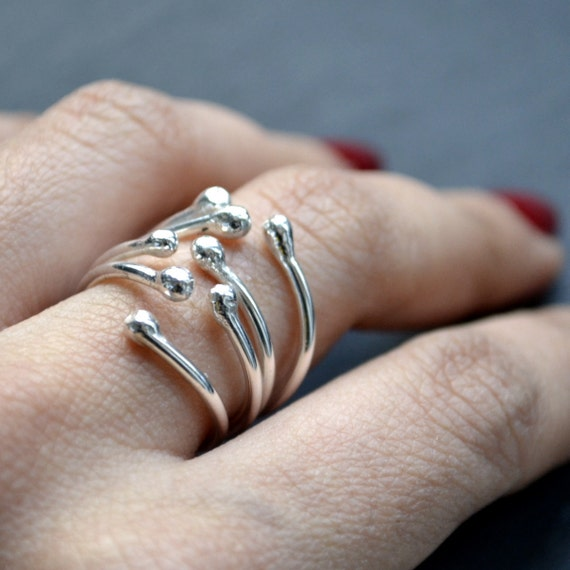 Matchstick's sister sterling silver ring