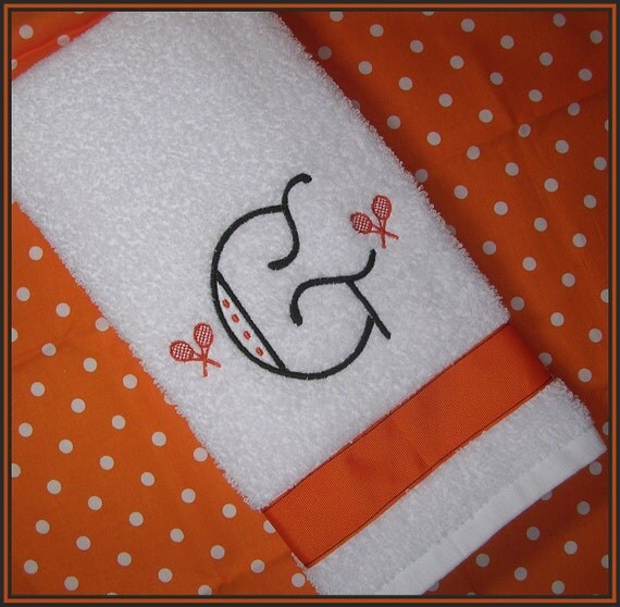 Items Similar To Personalized Tennis Racket Sweat Towel