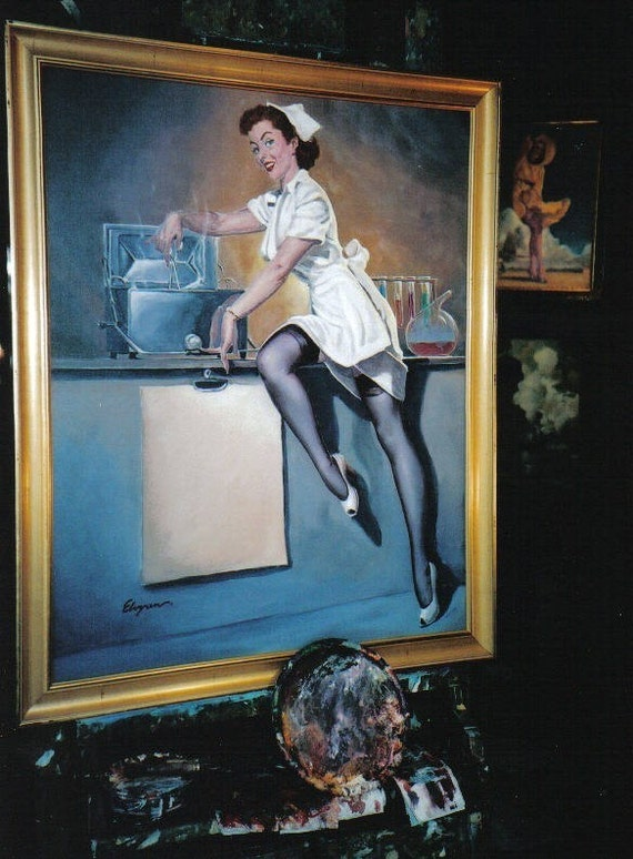 Nurse Pin Up Elvgren Whats Cooking Doctor By Vanguardgallery