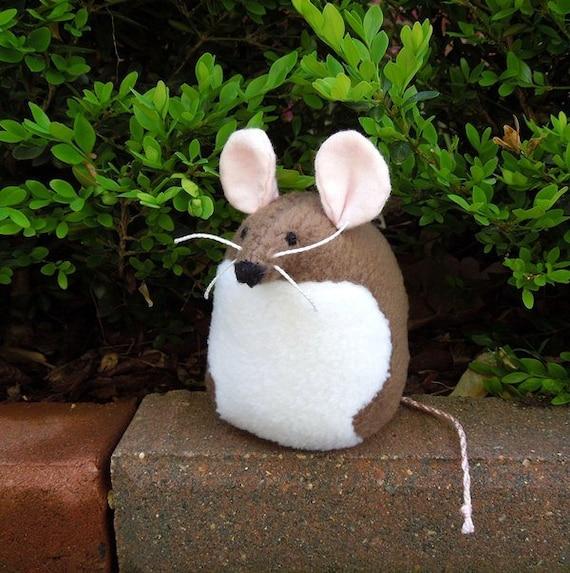 Brown Mouse Handmade Stuffed Animal