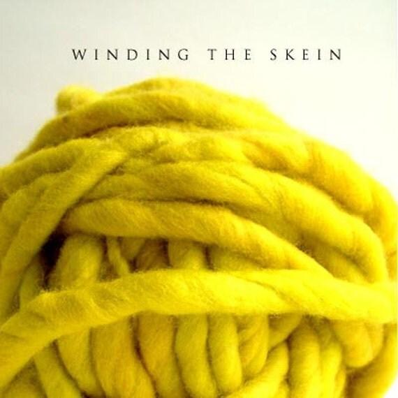 Handspun Yarn, Handdyed Merino Wool, CRAZY Super Bulky, Thick and Thin Yarn single - 4.7 oz