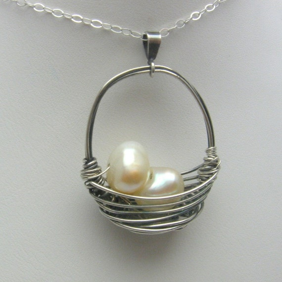 All My Eggs Basket Necklace