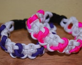 Breast Cancer and Relay For Life Paracord Bracelet