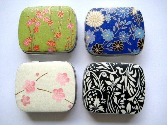 Small Rectangle Mint Gift Tins Pill Boxes (Set of 4)