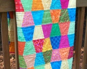 Confetti - Baby Crib Picnic Quilt or Wallhanging - 43 x 48