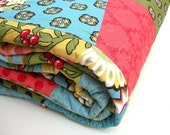 SALE Lap Quilt Twin Bed Coverlet Home Decor Tumbler Geometric Decor - 62 x 70
