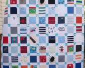 """Reserved for Ursula BABY CLOTHES Quilt Heirloom Memory Quilt Custom Order 58"""" x 66"""" - Using Your Baby Clothes"""