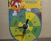 1977 Woody Woodpecker's Baja Rally Game Spinner Clock