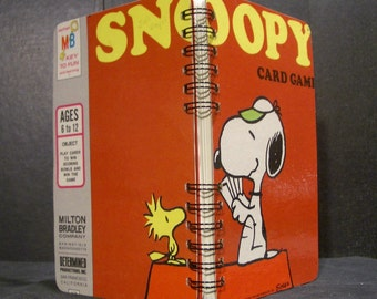 1974 Snoopy Card Game Box Spiral Bound Notebook