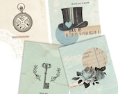 Alice Set- Digital PDF ACEO Tags for Download and Print