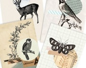 Vintage Forest- Digital PDF ACEO Tags for Download and Print