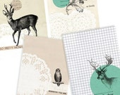 Forest Set- Digital PDF ACEO Tags for Download and Print