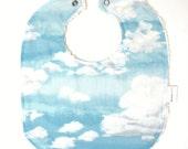 SALE Chenille Baby Bib - Clouds