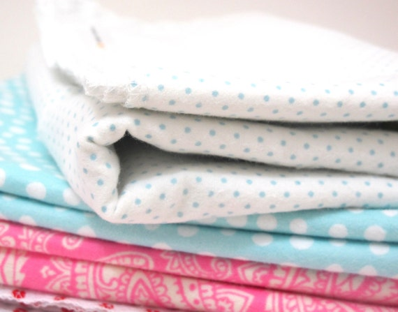 SALE Cotton Swaddling Blanket - Baby Blue Dot