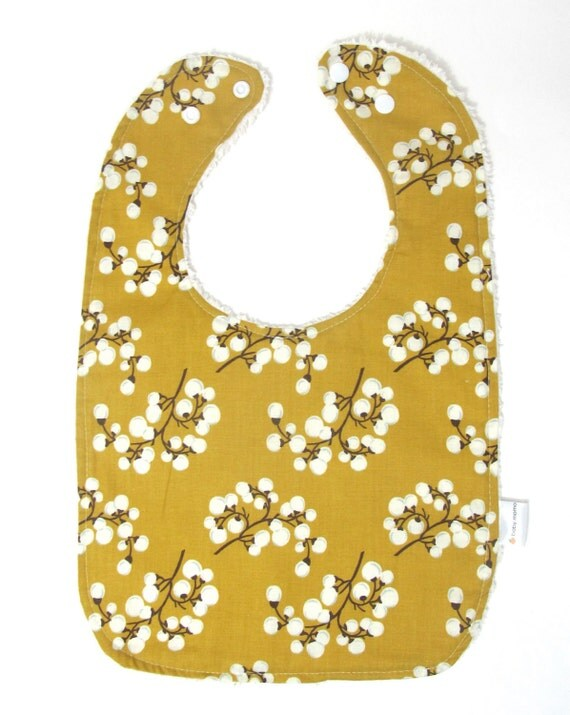 SALE Adjustable Neck Chenille Bib - Springtime