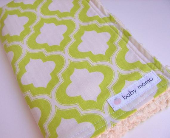 Summer Sale...Chenille Burp Cloth...Lime