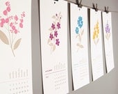 SALE - 2012 Calendar - Pretty Floral Hanging Wall Design