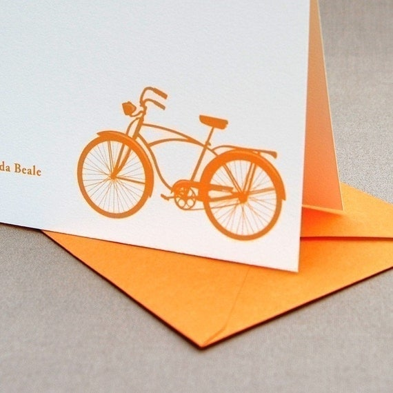 Bicycle Personalized Stationery Set