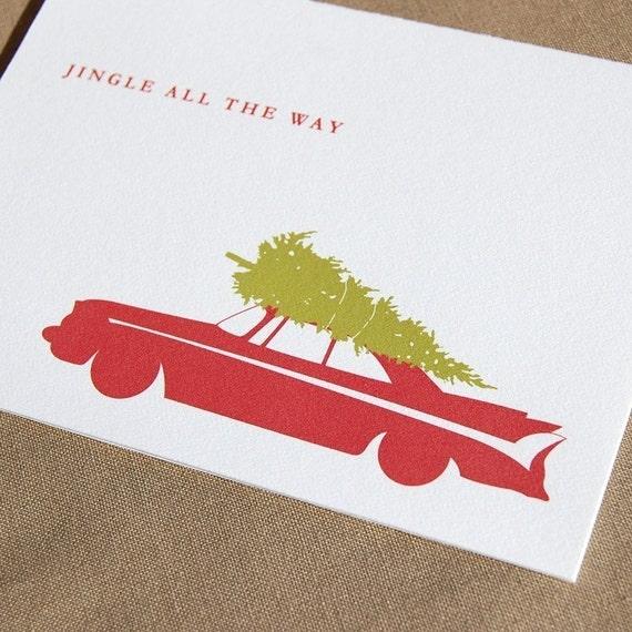 Classic Car Christmas Card Set