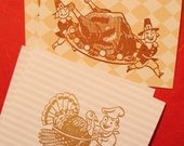 Set of 2 Thanksgiving Funny Retro Cards