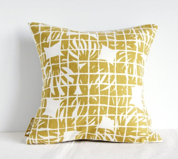 12x12 inches / 30x30 cm Cushion Cover in Beige Onion Bag