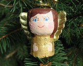 Redhead Cork Angel with Gold Dress