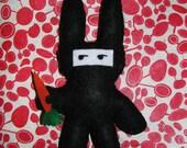 Buninja Felt Doll: bunny by day, ninja by night
