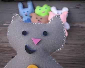 On Sale! Gray Kitty Pal Felt Doll Kit