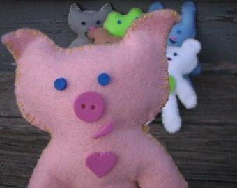 On Sale! Pink Piggy Pal Felt Doll Kit