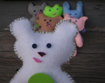 On Sale! White Bear Pal Felt Doll Kit