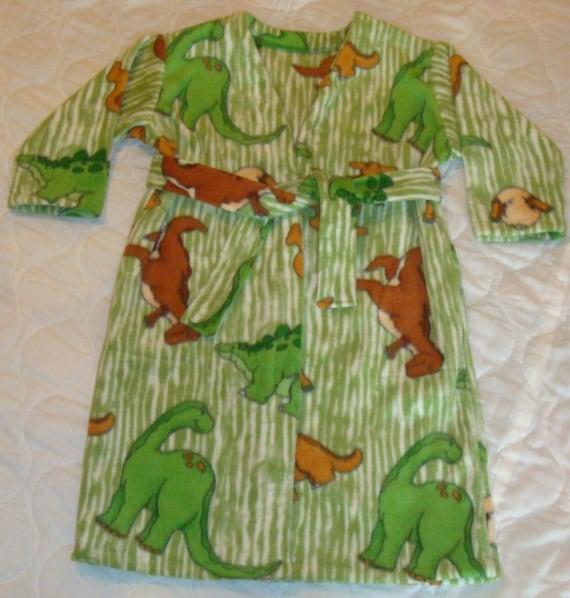 Fleece Robe Dinosaurs  Size 4