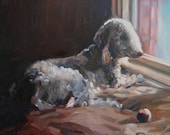 """11 x 14"""" Custom Dog Cat Pet Animal Portrait, oil painting made to order"""