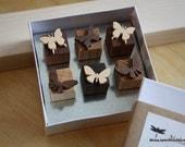 Reserved listing for kjburnett - Butterfly wood magnet set of 6