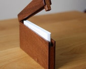 Reserved Listing - Slim  business card holder-Mahogany