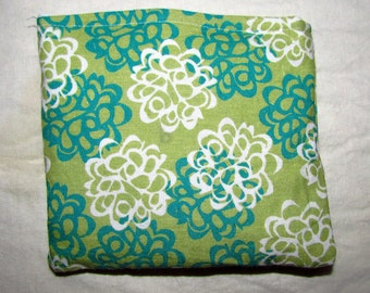 Green Floral Snack Sack