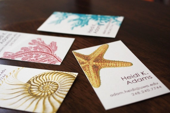 Nautical Calling Cards - assorted designs in a set of 25 or 50