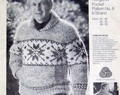 COWICHAN Sweater Knitting Pattern  Snowflake Adult Pullover Outdoors  from Raincoaststudio on Etsy