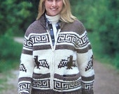 COWICHAN  Sweater Knitting Pattern  Thunderbird  Eagle Adult from Raincoaststudio on Etsy