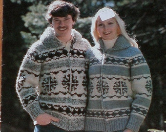 COWICHAN  Sweater Knitting Pattern  Snowflake Adult from Raincoaststudio on Etsy
