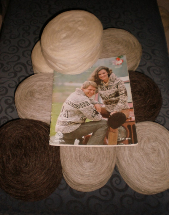 Knitting KIT Cowichan Sweater Thunderbird- Spirit of the EAGLE natural wool DIY  knitting supplies from Raincoaststudio on Etsy